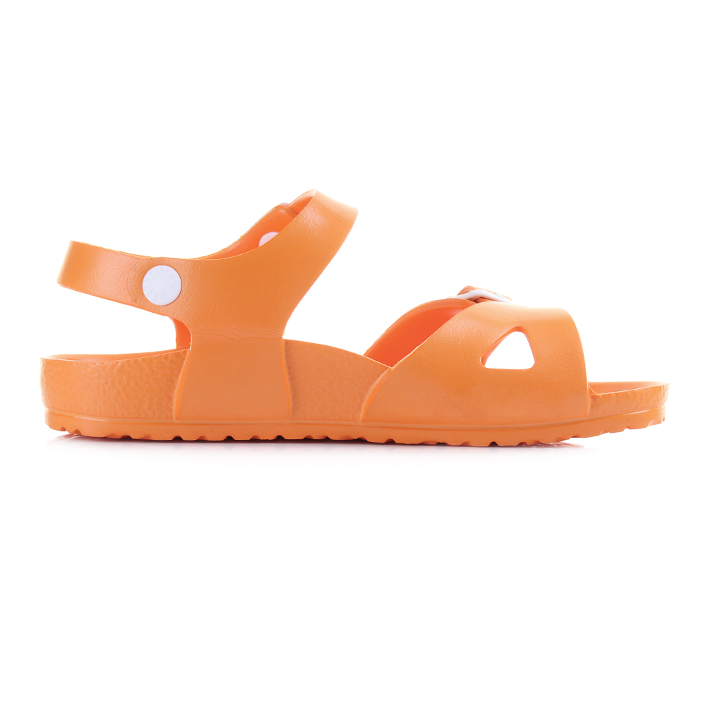 kids girls boys birkenstock rio eva neon orange narrow twin strap sandal shu siz ebay. Black Bedroom Furniture Sets. Home Design Ideas