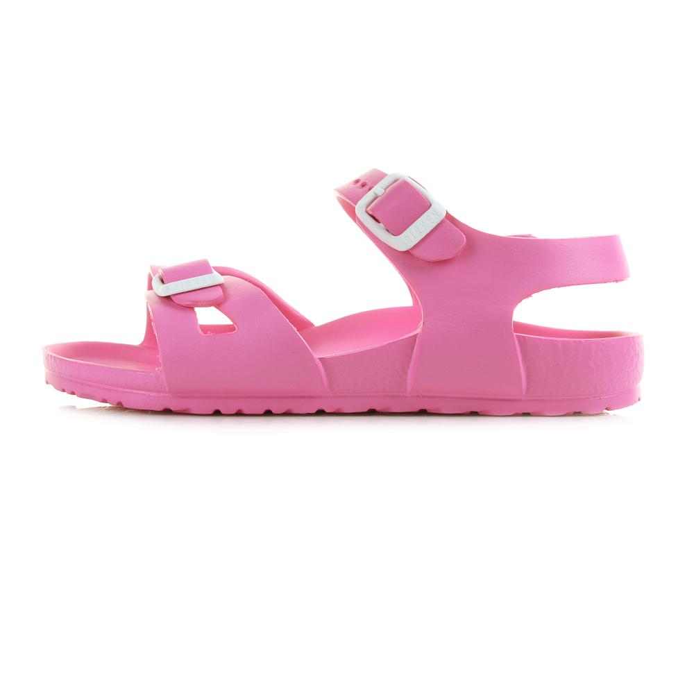 Kids GIrls Birkenstock Rio EVA Neon Pink Narrow Fit Sandals UK Size
