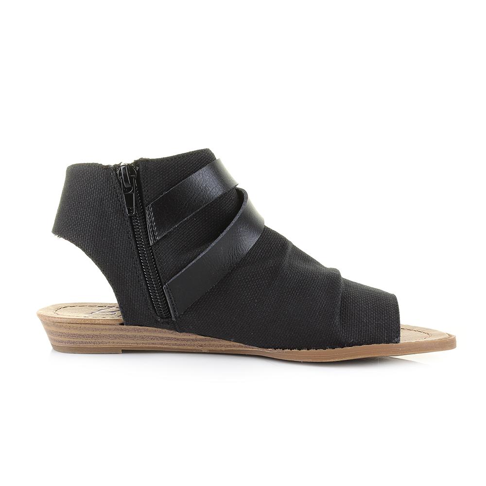 Womens sandals ebay - Womens Blowfish Balla Black Rancher Canvas Flat Sandals Shu Size