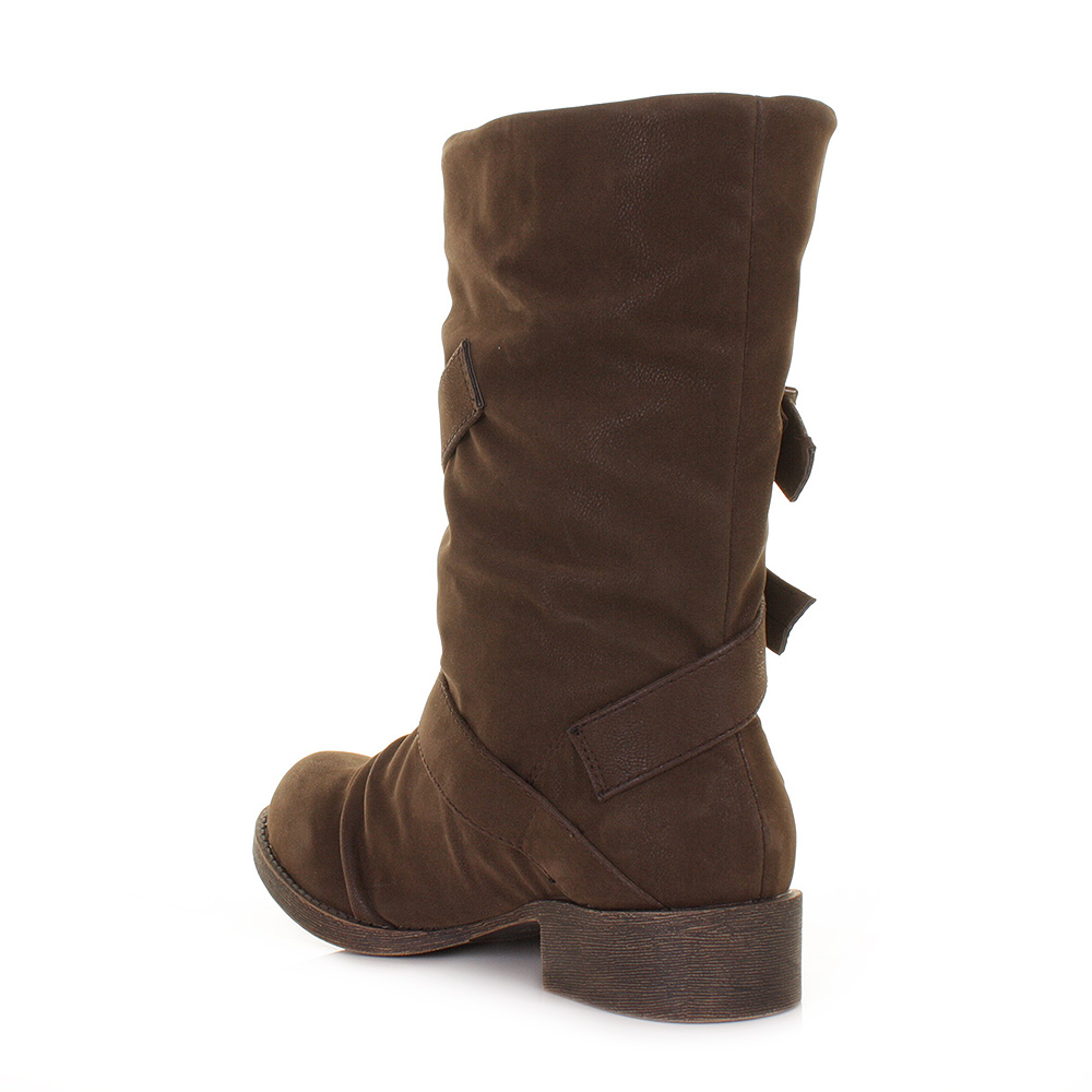 womens blowfish kasbah brown fawn wide fit ankle calf