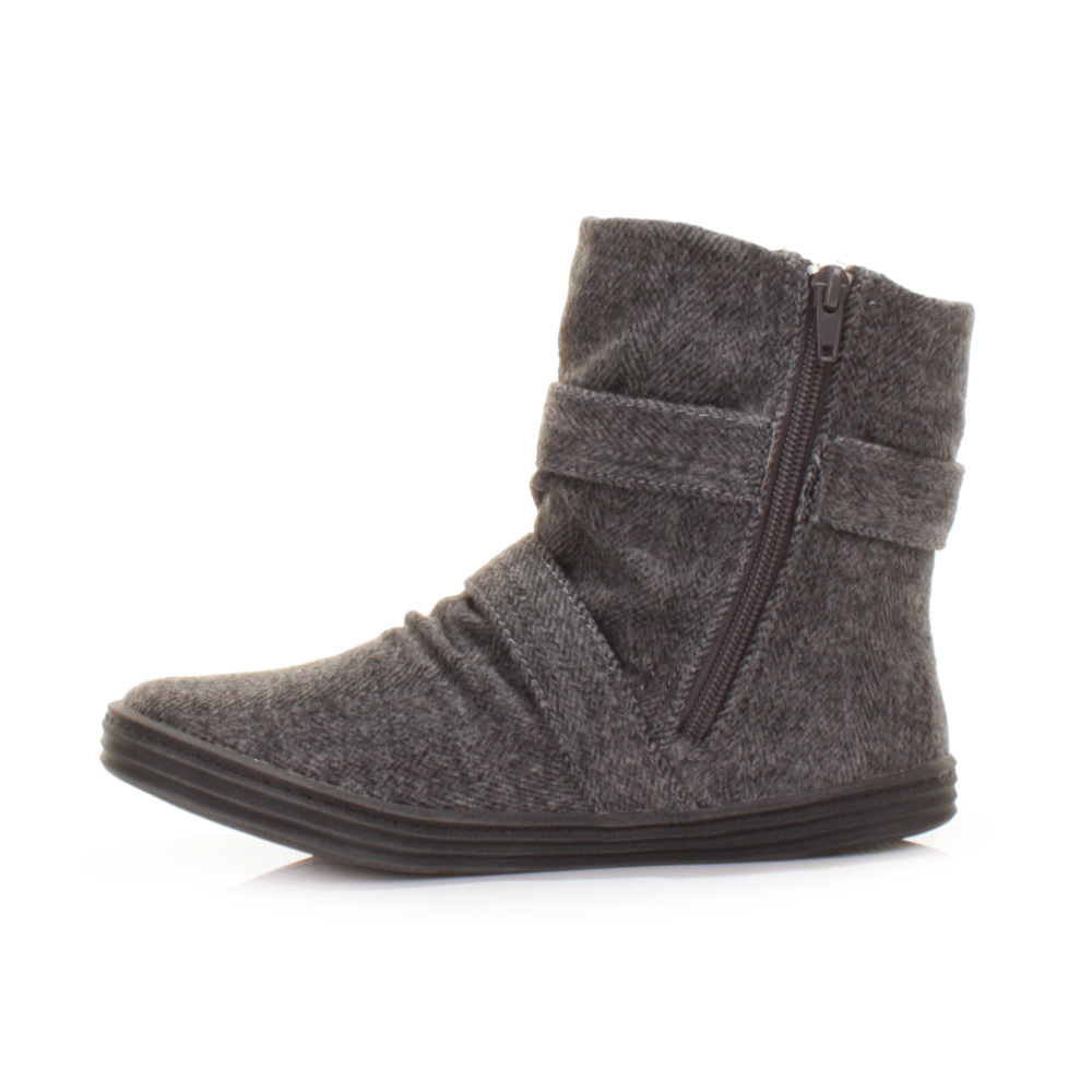 Womens Grey Ankle Boots - Cr Boot