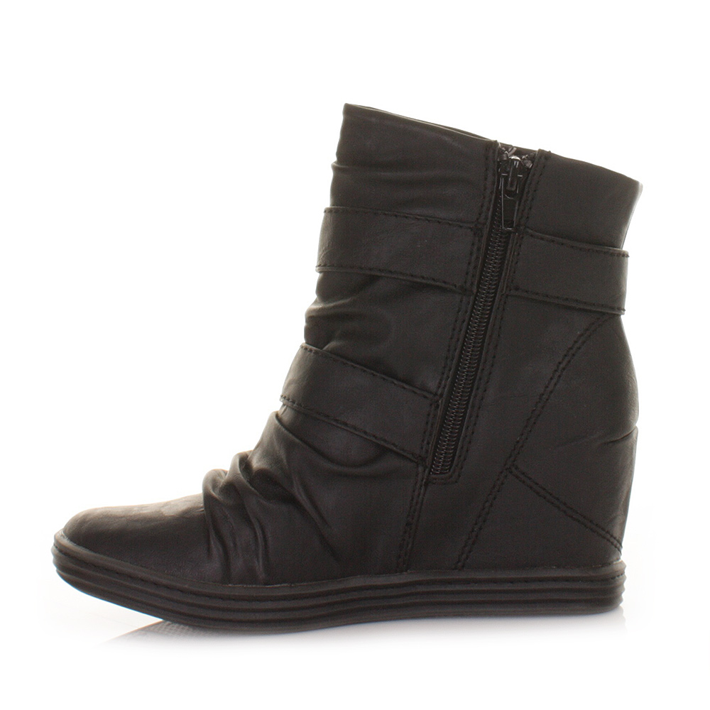 blowfish ankle boots womens tugo black relax wedge