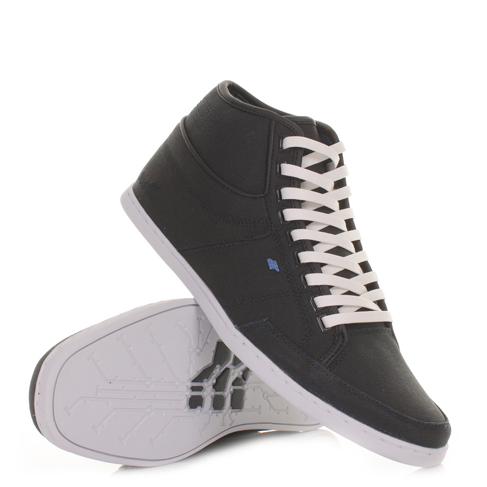 mens boxfresh swapp canvas navy hi high top trainers casual shoes size 6 12 ebay. Black Bedroom Furniture Sets. Home Design Ideas