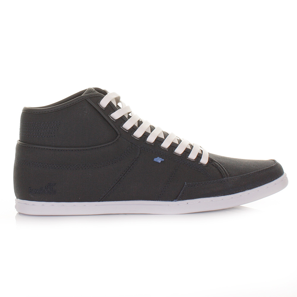 mens boxfresh swapp canvas navy hi high top trainers