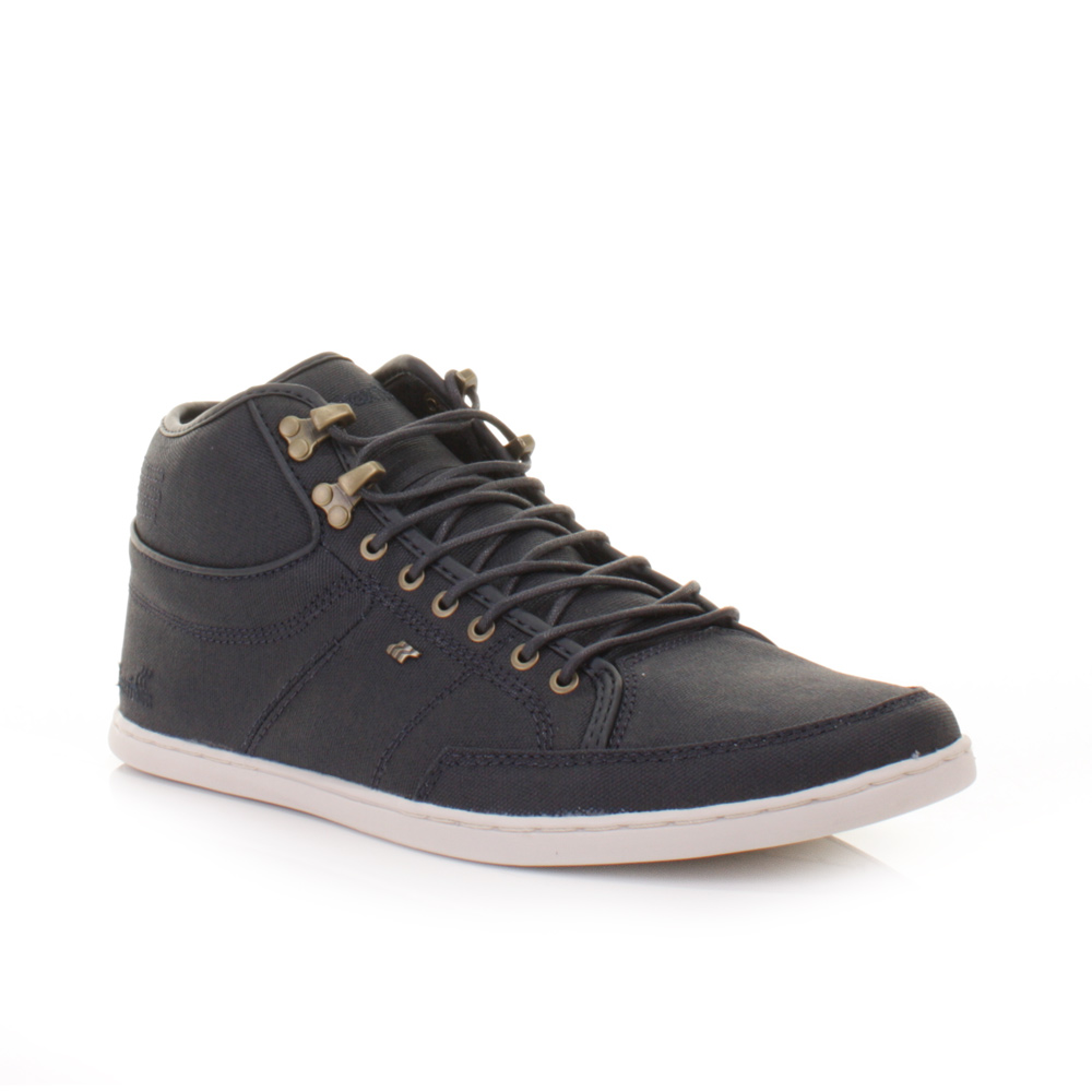 mens boxfresh swapp premium indigo waxed canvas trainer ankle boots size 6 12 ebay. Black Bedroom Furniture Sets. Home Design Ideas