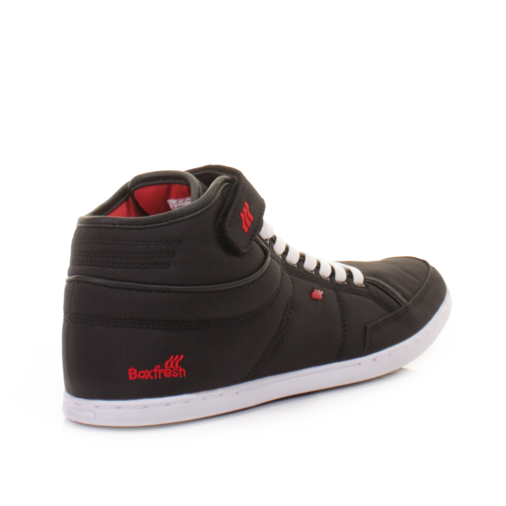 mens boxfresh swich black trainers ankle boots
