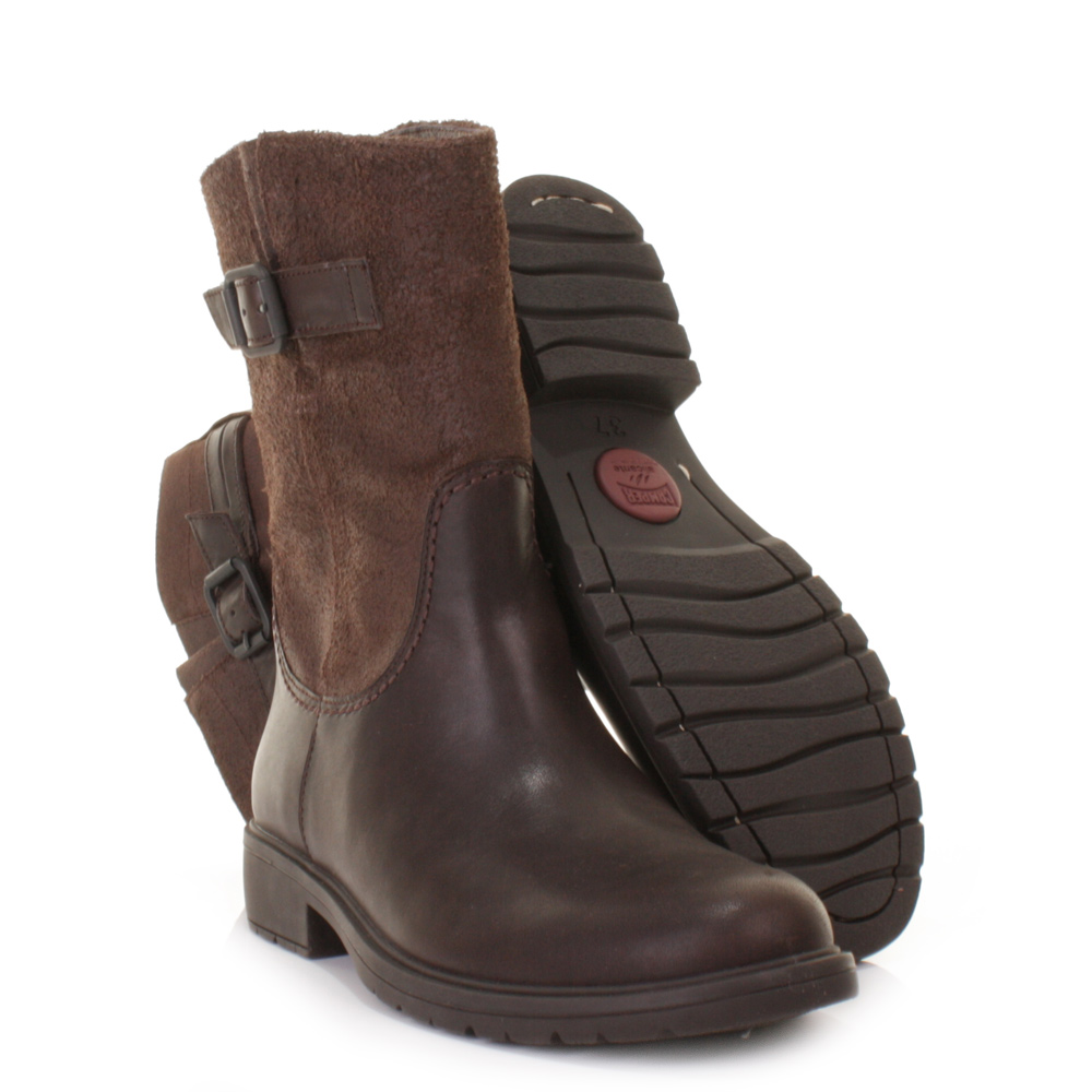 Womens Camper 1900 Ankle Boots Land Brown Leather Biker Casual ...