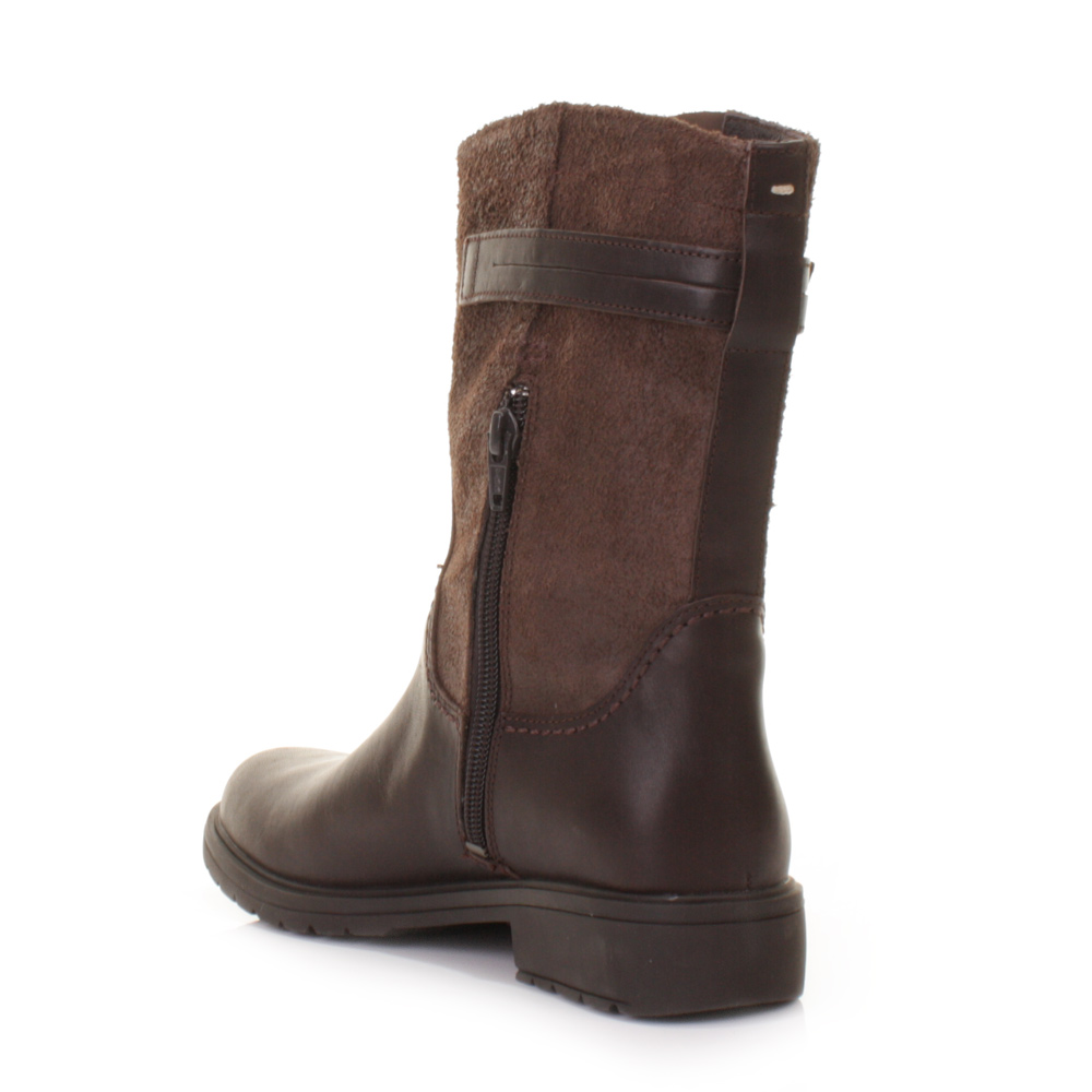 WOMENS CAMPER 1900 LAND BROWN LEATHER BIKER CASUAL ANKLE