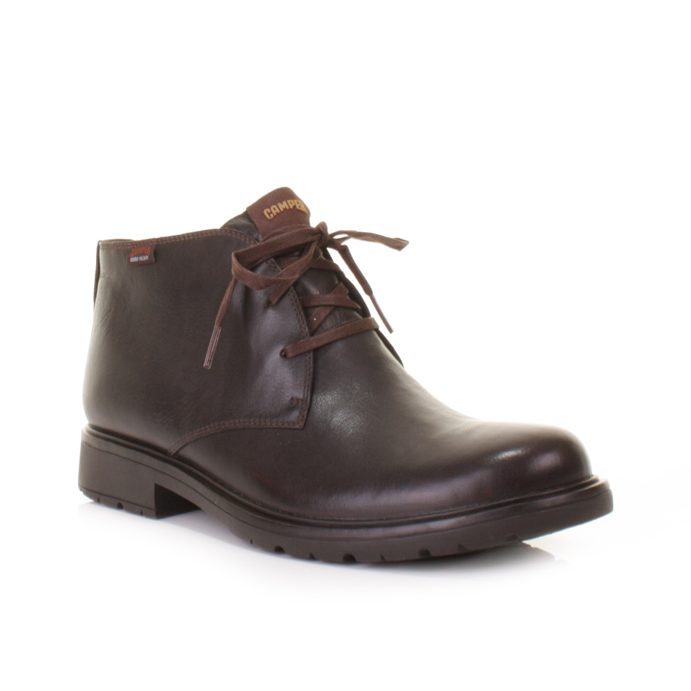 MENS CAMPER 1900 SONNY KENIA BROWN LACE UP LEATHER ANKLE BOOTS ...