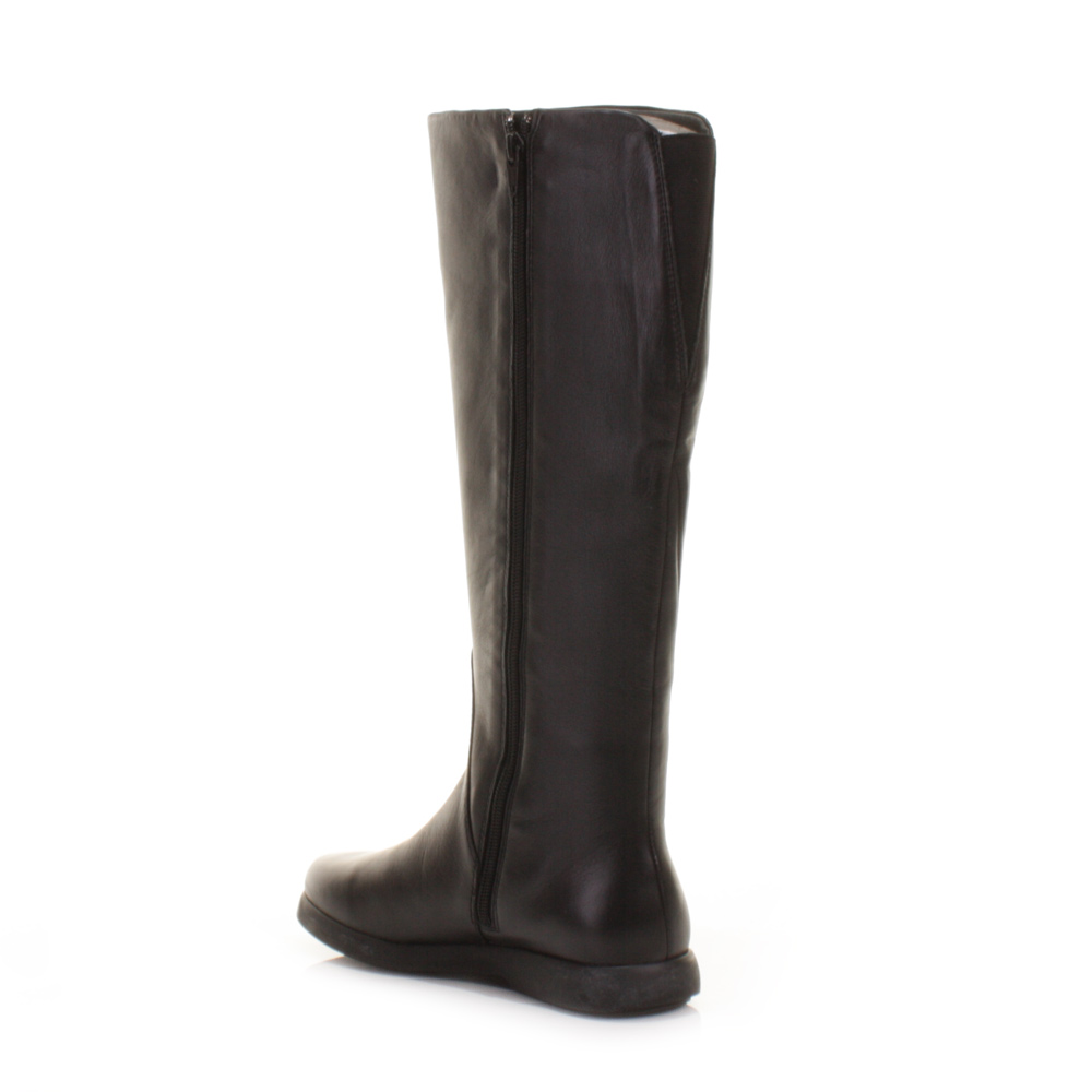 Camper Palerma Dry Black Leather Flat Women Knee High Boots Size 5 ...