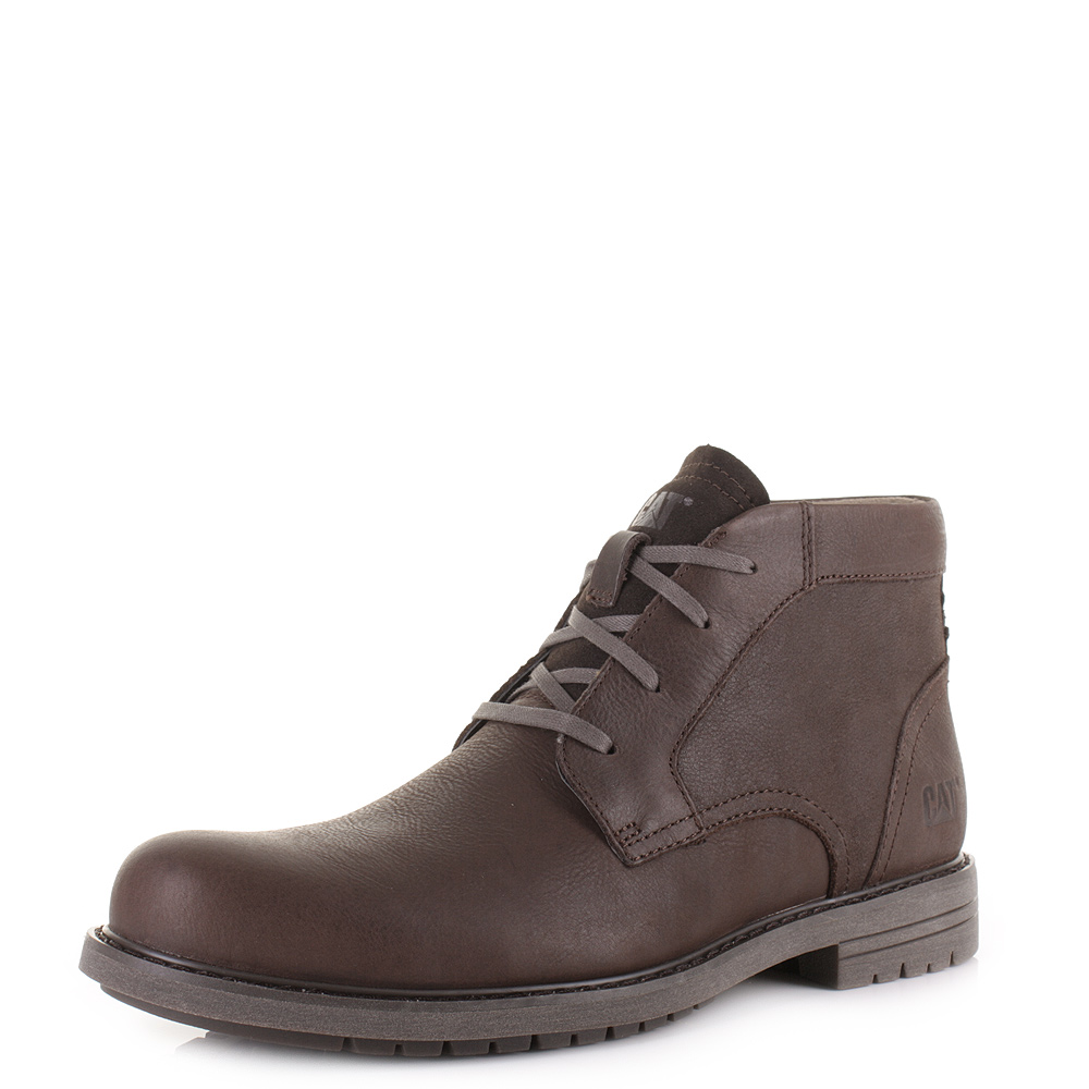 mens caterpillar brock mulch lace up leather casual ankle