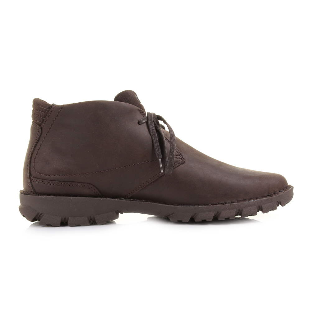 Mens Caterpillar Mitch Chocolate Brown Leather Lace Up Casual ...
