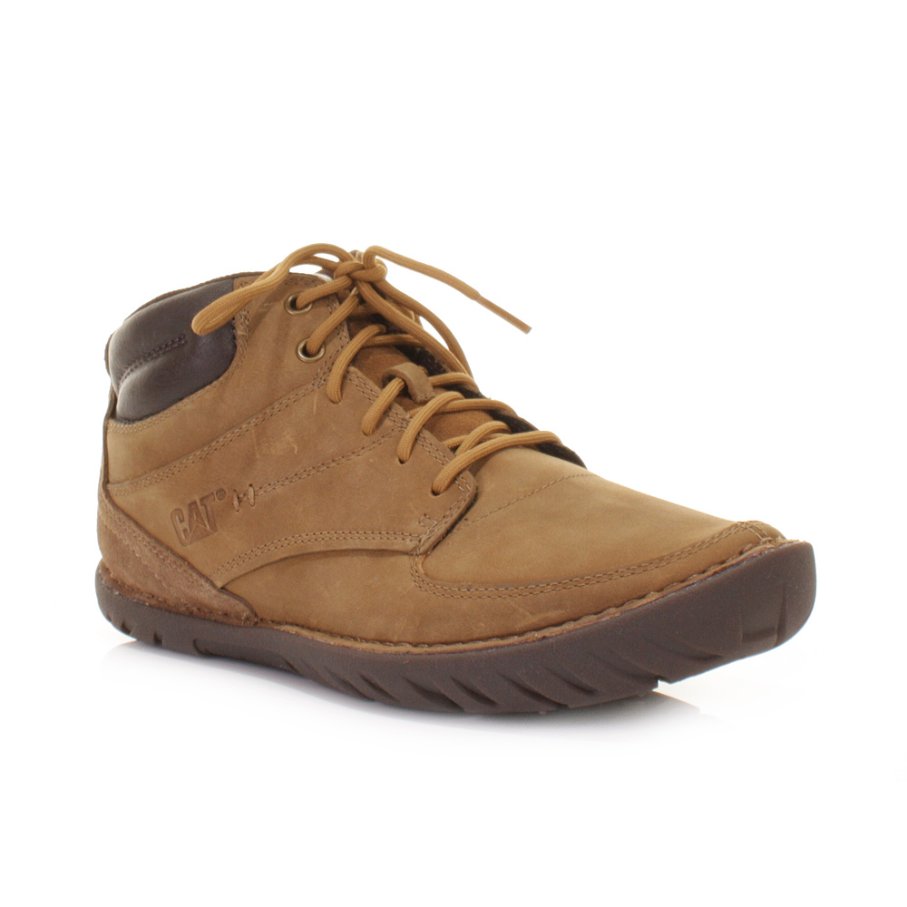 mens caterpillar leadville dune lace up leather ankle
