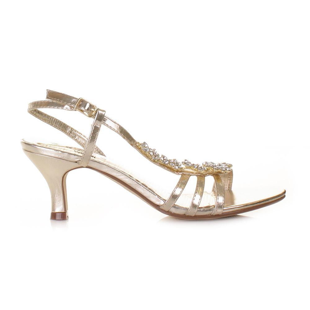 Kitten Heel Gold Shoes