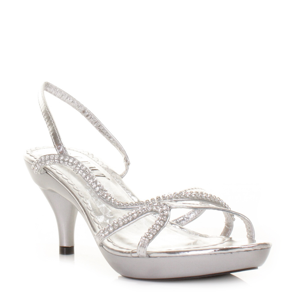 Cheap Strappy Silver Heels - Is Heel