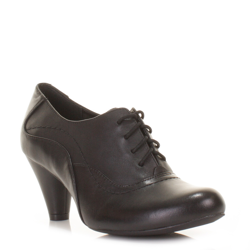 womens clarks coolest fruit leather lace up heeled shoes