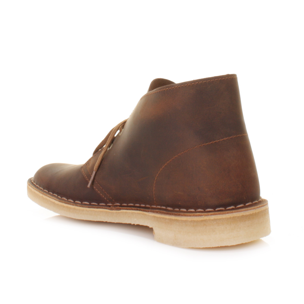 mens clarks originals beeswax leather desert boots shoes