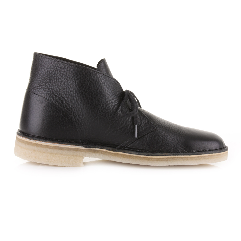 clarks desert boot black tumbled leather nail waxing