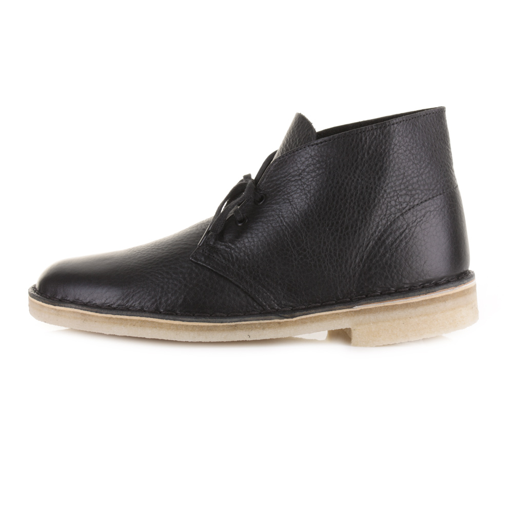 mens clarks originals desert boot black tumbled leather