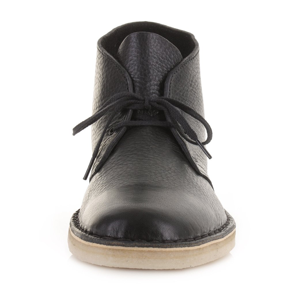 mens clarks originals desert boot black tumbled leather casual shoes size ebay. Black Bedroom Furniture Sets. Home Design Ideas