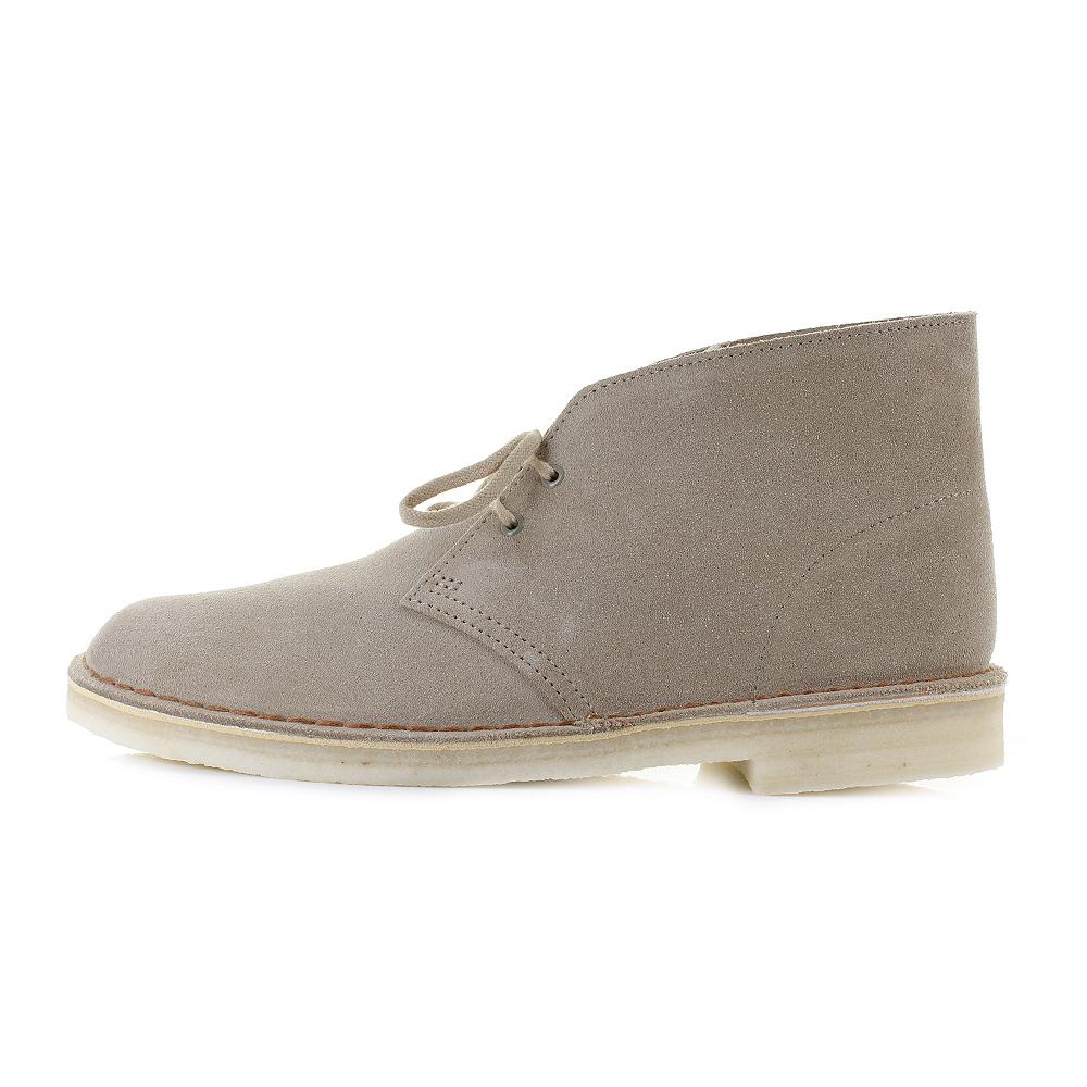 mens clarks desert boots light sand suede lace up ankle boots g fit size ebay. Black Bedroom Furniture Sets. Home Design Ideas