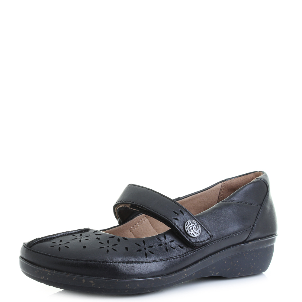 Black Leather Mary Jane School Shoes