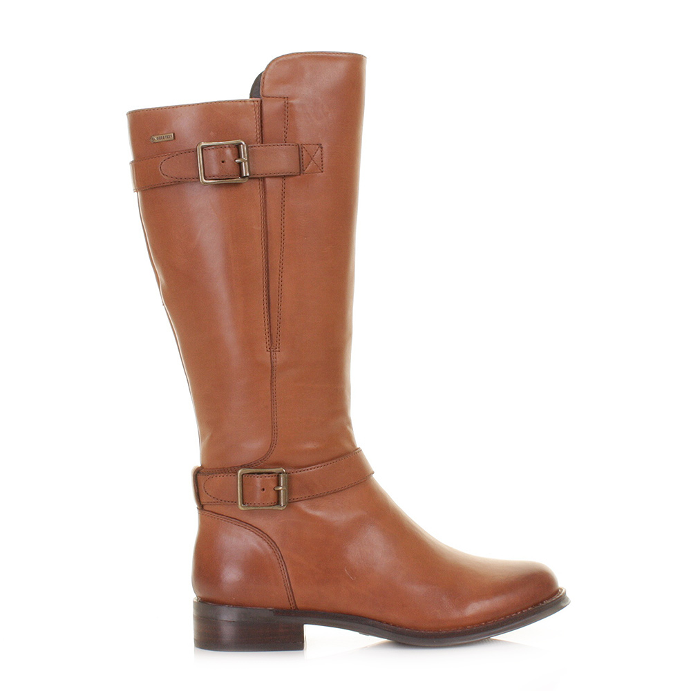 womens clarks mara vale gtx leather waterproof knee high