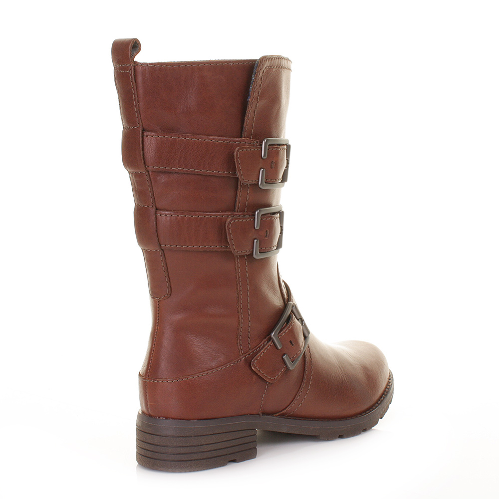 clarks womens national sugar brown leather calf ankle