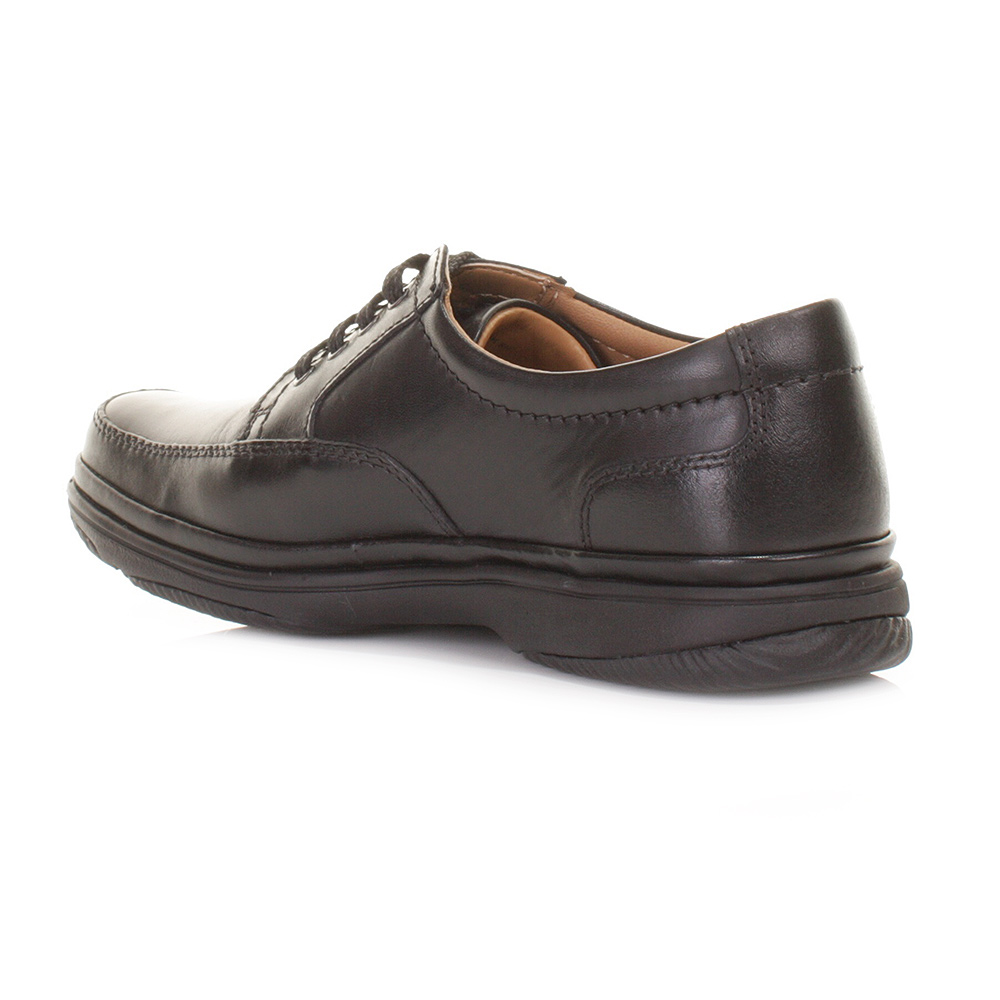 clarks black mile wide h fit leather comfortable