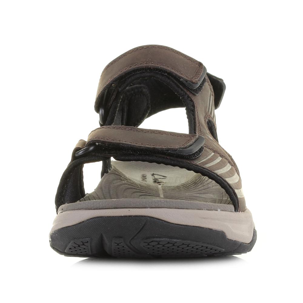 Mens Clarks Wave Leap Dark Brown Active Leather Walking