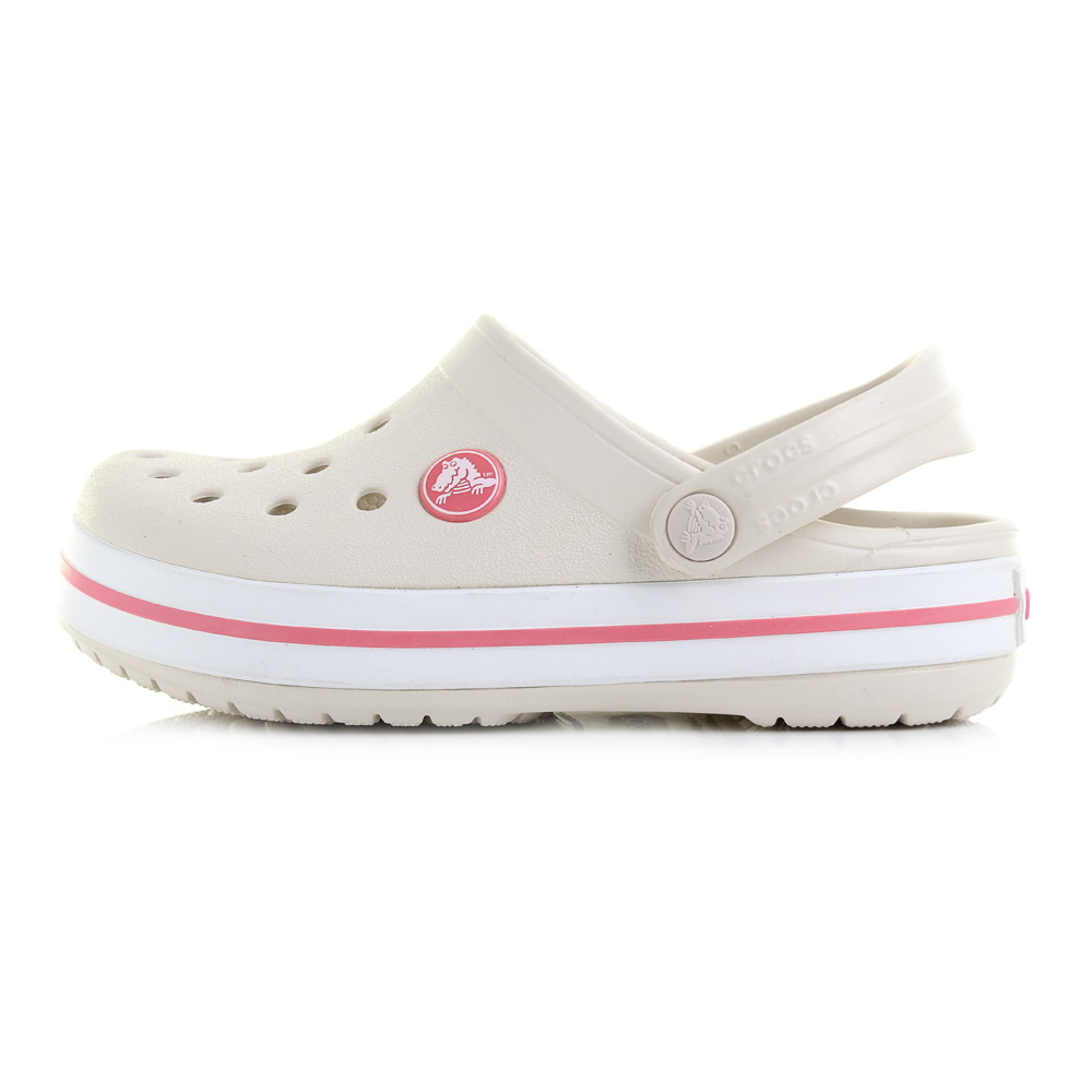 Girls Kids Crocs Crocband Stucco Melon Clogs Sandals Shu Size | eBay