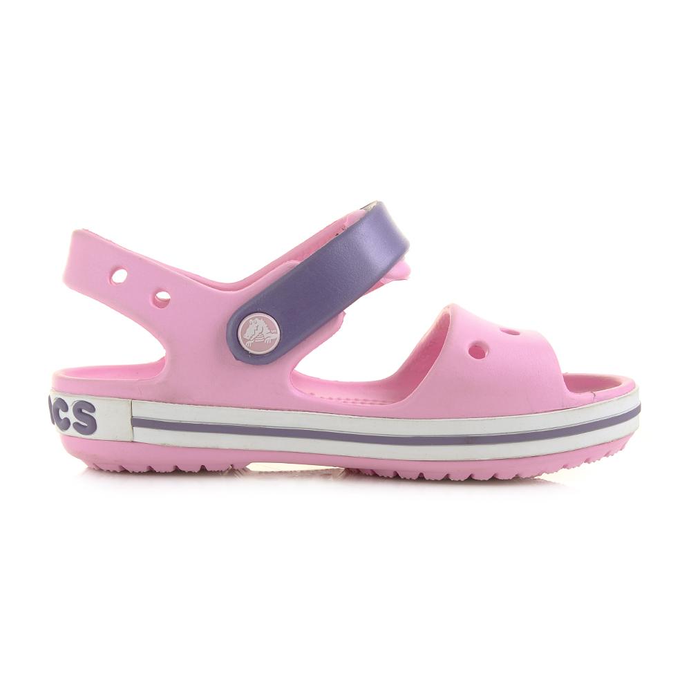 Girls sandals - Girls Kids Crocs Crocband Carnation Blue Violet Sandals