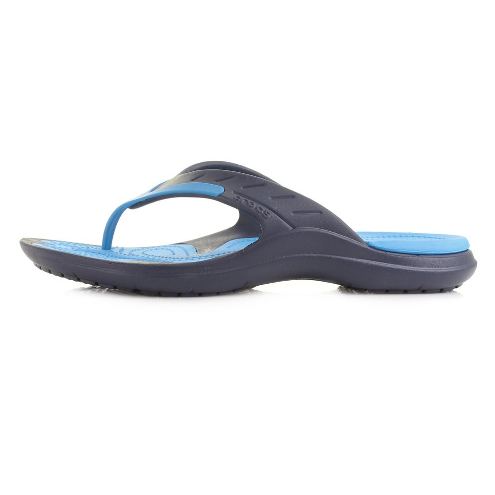 mens crocs modi sport navy ocean comfort iconic flip flops shu size ebay. Black Bedroom Furniture Sets. Home Design Ideas