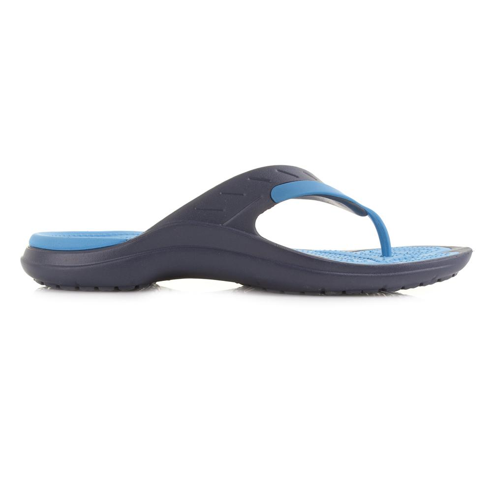 mens crocs modi sport navy ocean comfort iconic flip flops sz size ebay. Black Bedroom Furniture Sets. Home Design Ideas