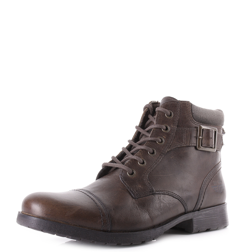 mens guys brown style fashion casual leather