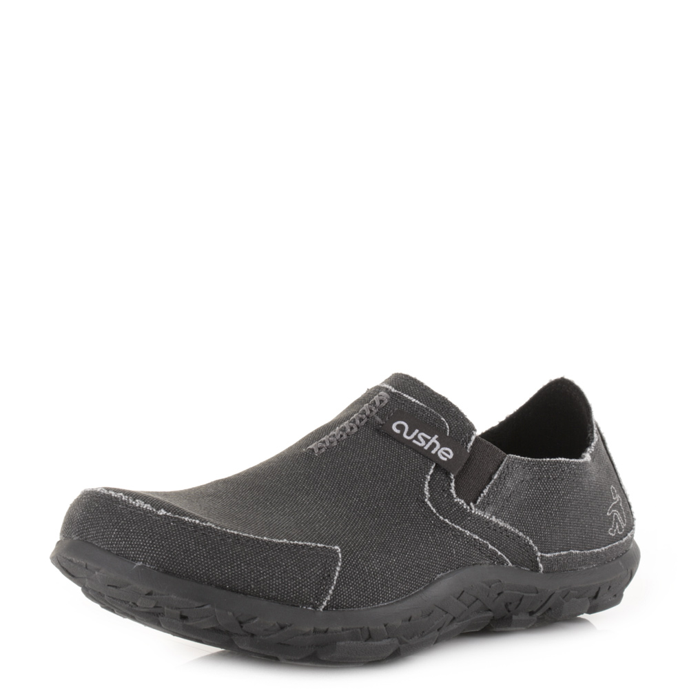mens cushe slipper charcoal casual slip on comfort