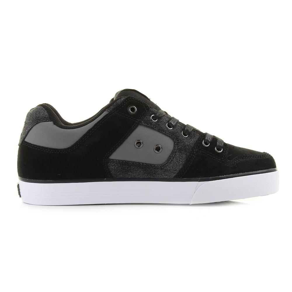 Skate shoes dc - Mens Dc Pure Se Black Destroyed Wash Casual