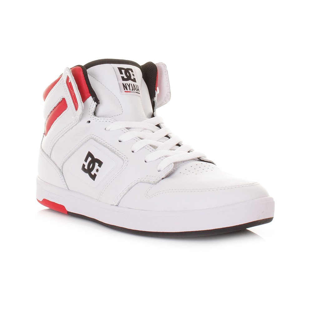 dc shoes high tops red and black. mens dc nyjah high white black red hi top skate trainers casual shoes size 6-12 dc shoes high tops red and black 4
