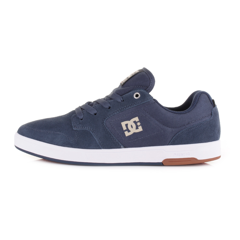 dc shoes nyjah navy camel leather lace up casual skate
