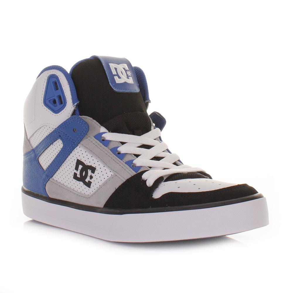 Mens Dc Shoes Spartan Hi Black Blue White High Top Skate