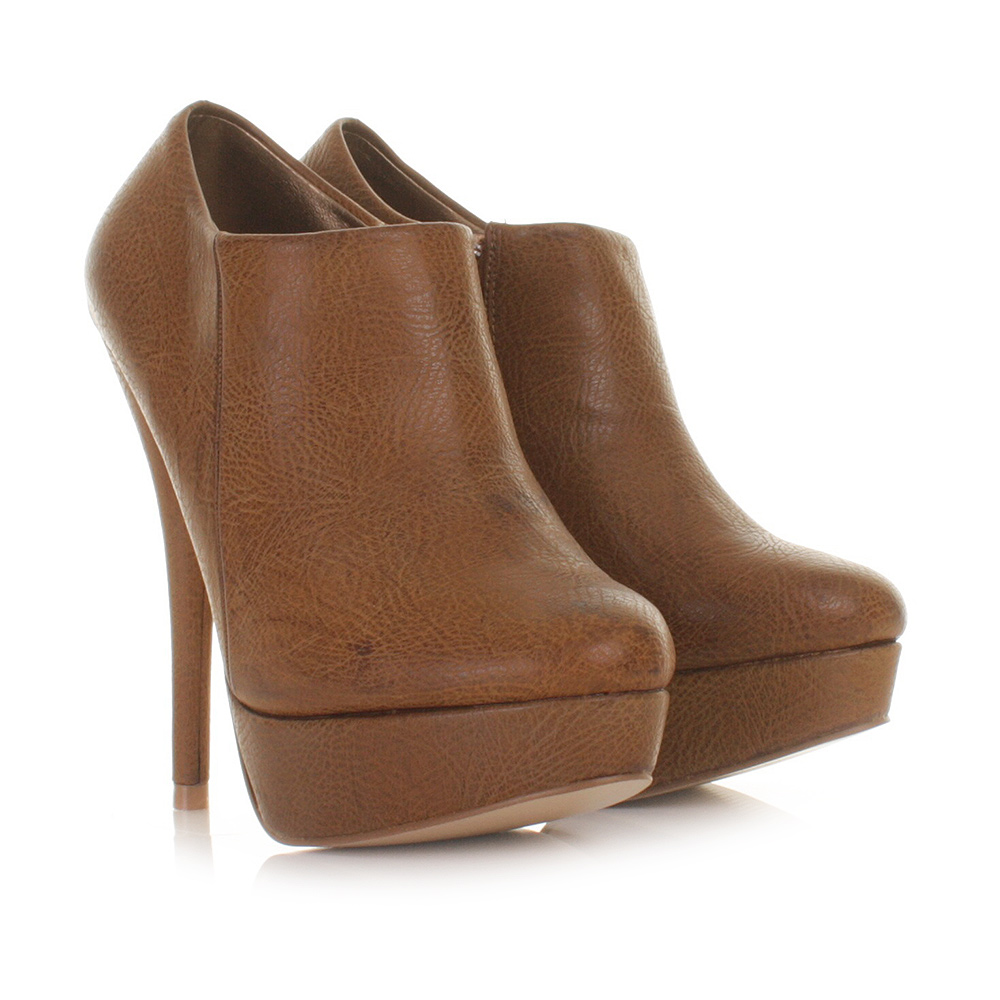 Brown Ankle Boots With Heel - Cr Boot