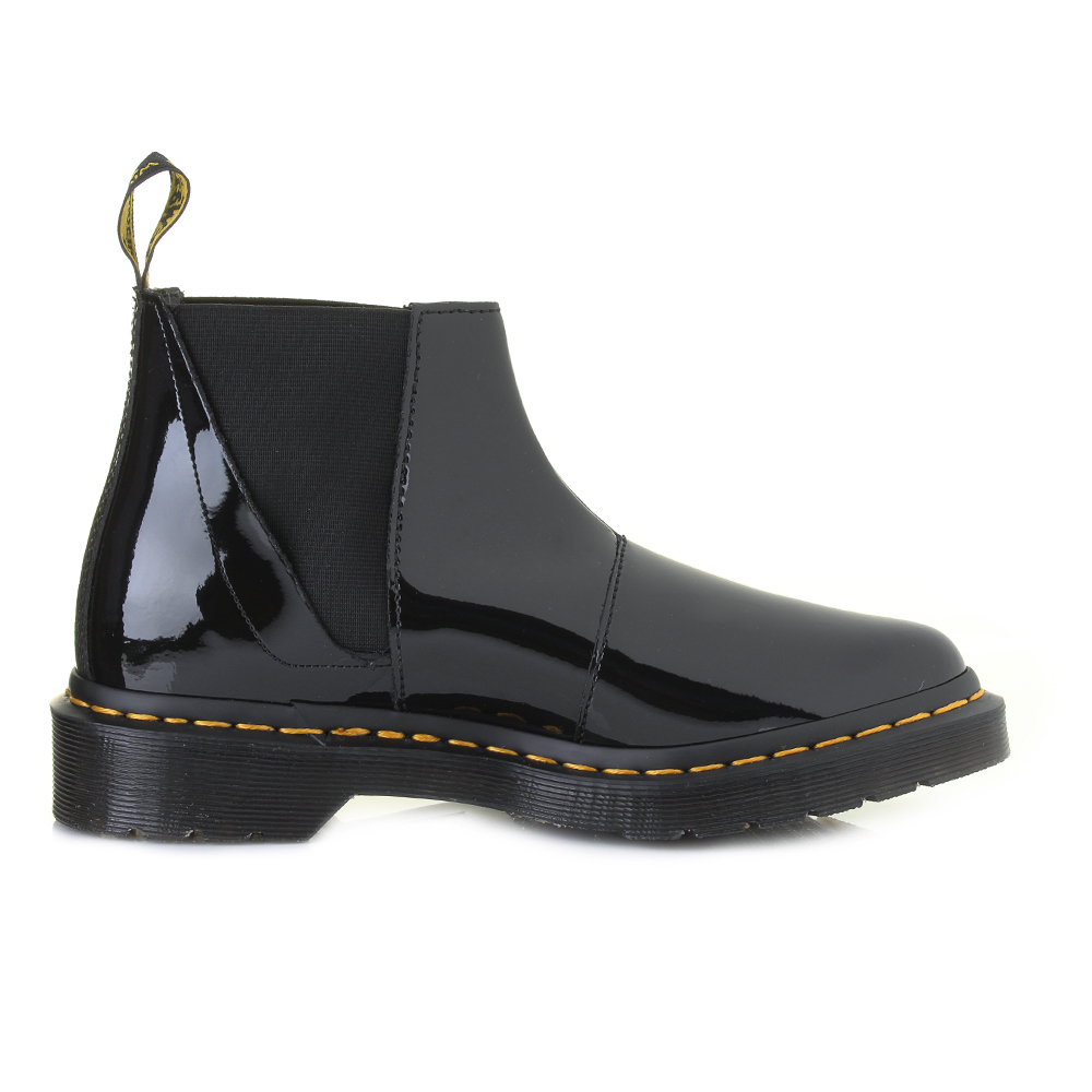 Beautiful Ada Black Patent Leather Chelsea Versatility Boot  Paolo Shoes