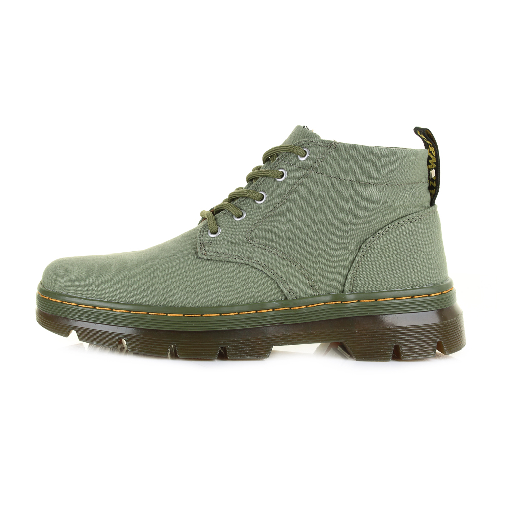 Womens Dr Martens Bonny Canvas Mid Khaki Ankle Lace Up ...
