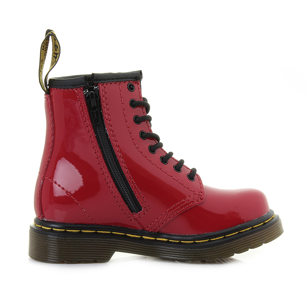 Kids Girls Infant Dr Martens Brooklee Red Patent Leather Ankle ...