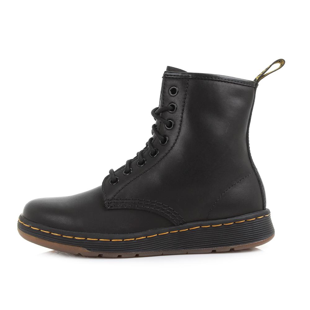 womens mens unisex dr martens newton dm lite black leather