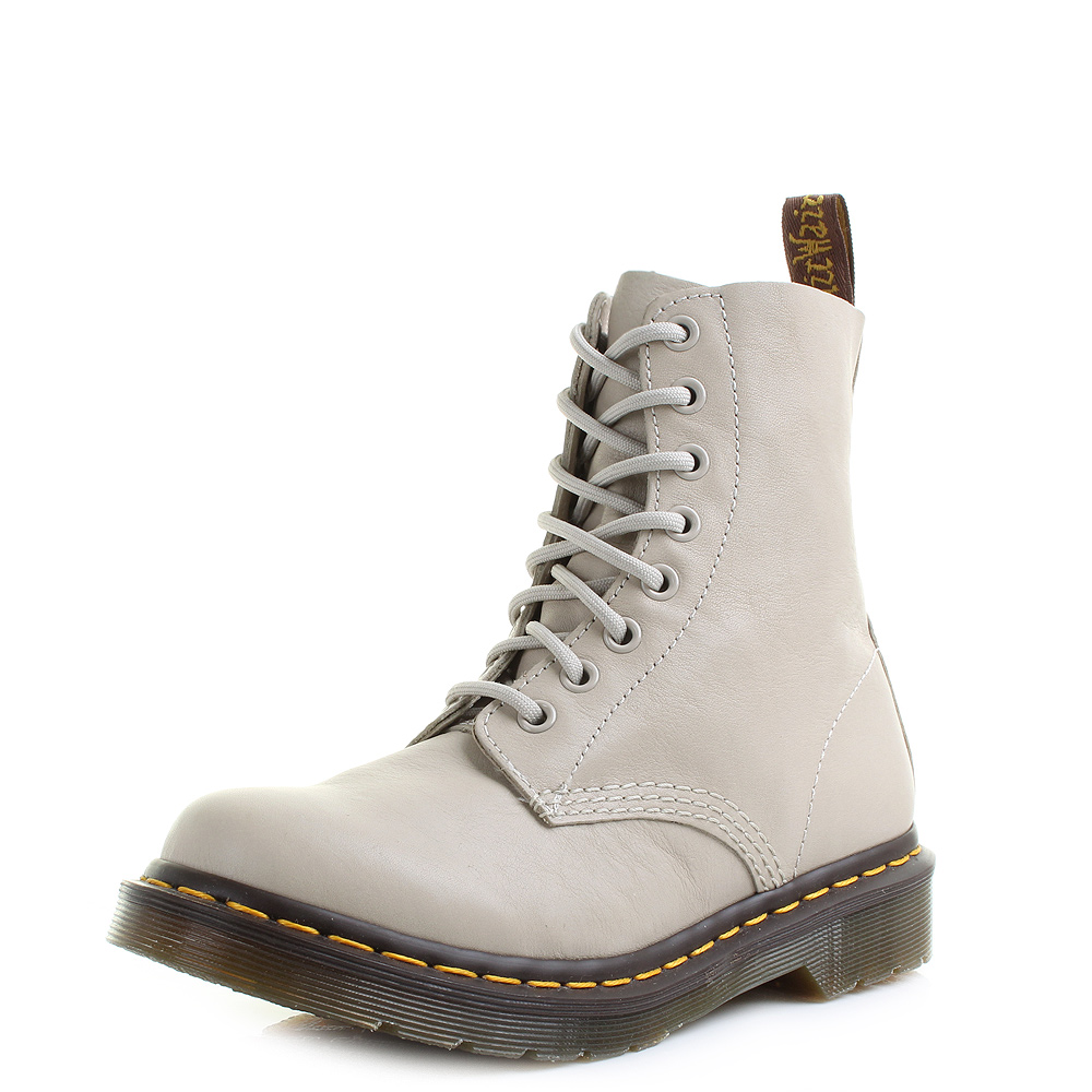 womens dr martens pascal ivory virginia 8 eyelet leather
