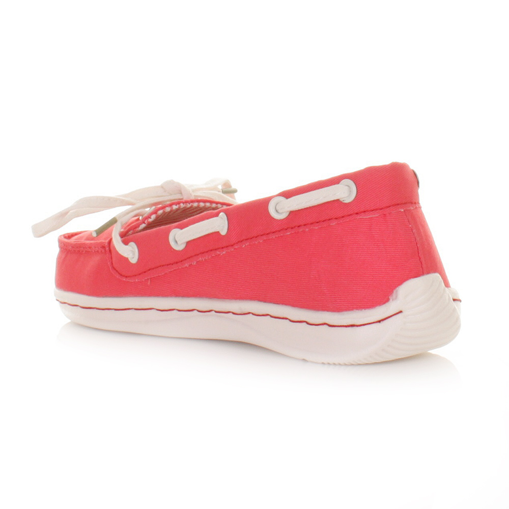 womens hey dude moka coral canvas deck boat shoes
