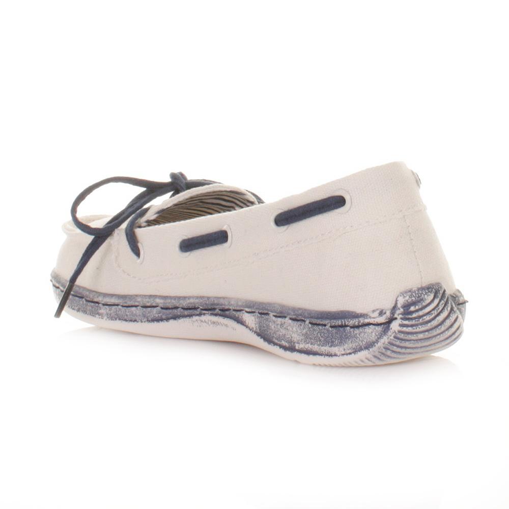 womens dude moka navy blue white deck boat shoes