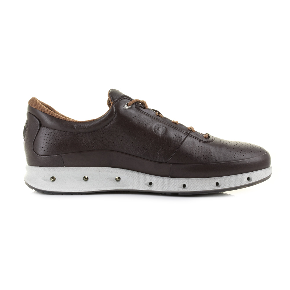 mens ecco cool exhale gtx lace mocca lace up casual