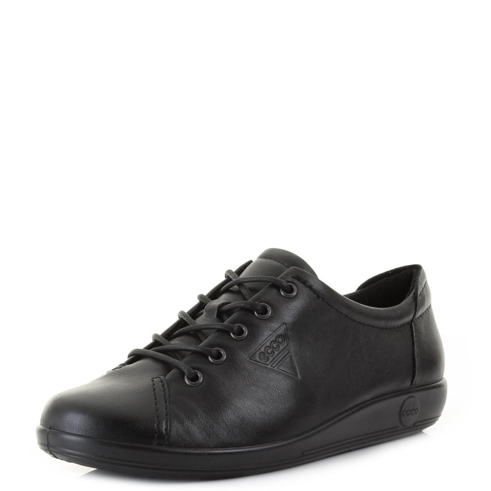 Ecco Ladies Black Lace Up Shoes